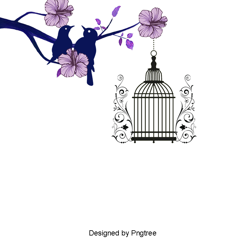Lovebirds Wedding, Flowers, Birdcage, Lovebirds PNG Transparent