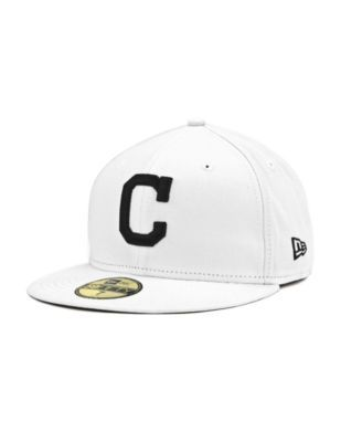 low priced 9b9af 87ff6 ... order new era cleveland indians mlb white and black 59fifty cap 80813  89500