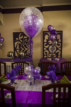 Decoration Ideas Purple Birthday Party Google Search My Party