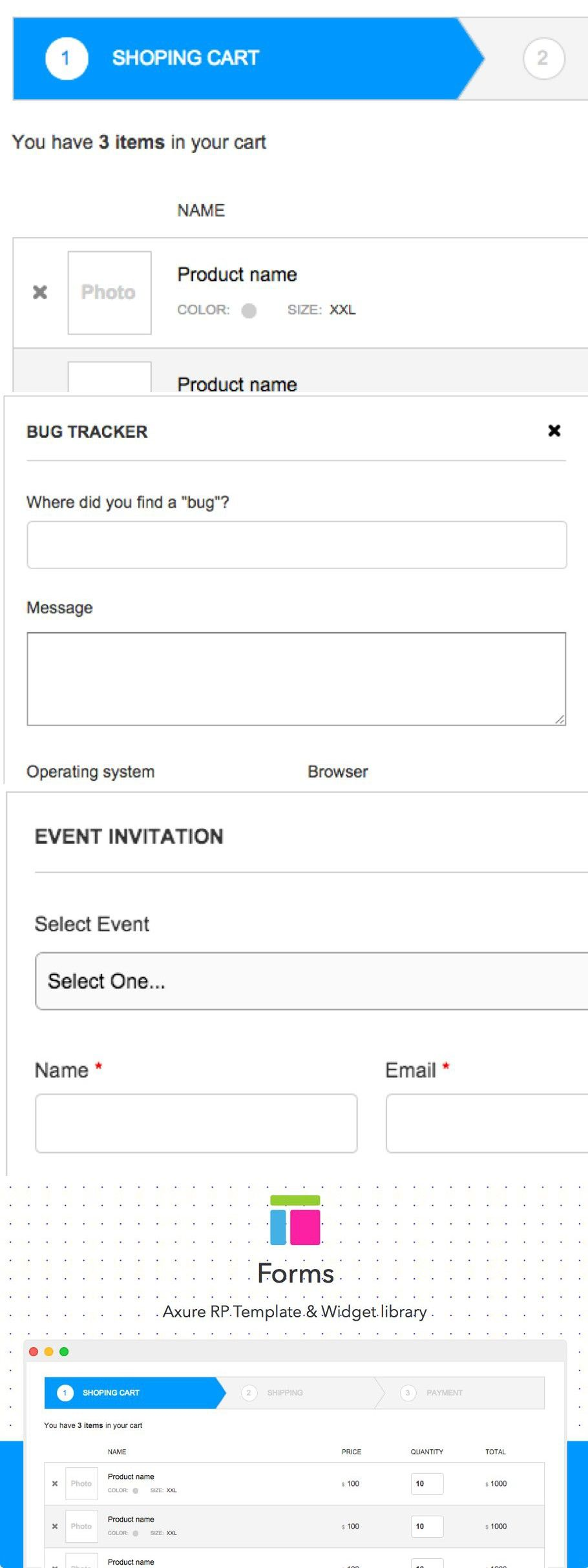 Axure Template Forms Templates Mockup Template Job Application