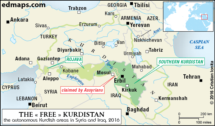 #Media #Oligarchs #MegaBanks vs #Union #Occupy #BLM #Humanity #SDF #Rojava  The #Kurdish Question: From Paris (1919) to Al-Bab (2017)  http://www.edmaps.com/html/kurdistan_in_seven_maps.html   Often described as one of the largest national communities in the world without their own state, the Kurds, numbering somewhere between 25 and 30 million, are a very distinct community, with its own language, history and traditions. Nonetheless, their ethnic identity has been for a long time denied by…