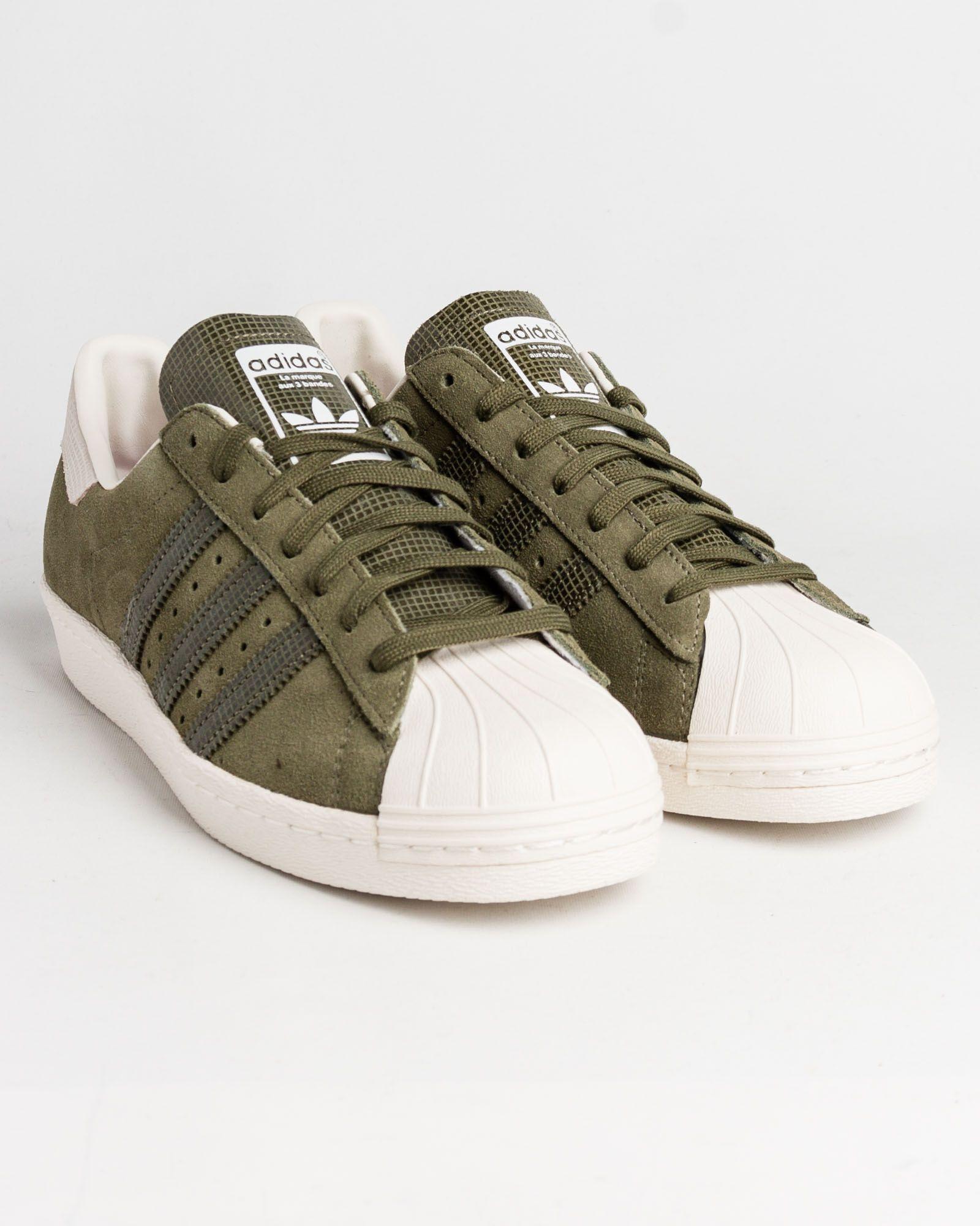 superstar adidas vert kaki