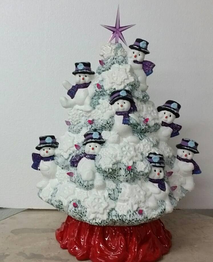 Snowman Christmas Tree Ceramic Christmas Trees Ceramic Christmas