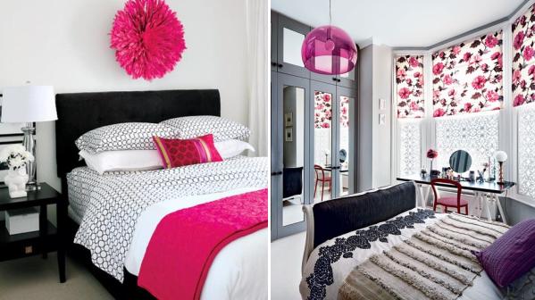 Zwart wit slaapkamer bloemen roze paars picture box slaapkamer pinterest paars zwart - Kamer voor tieners ...