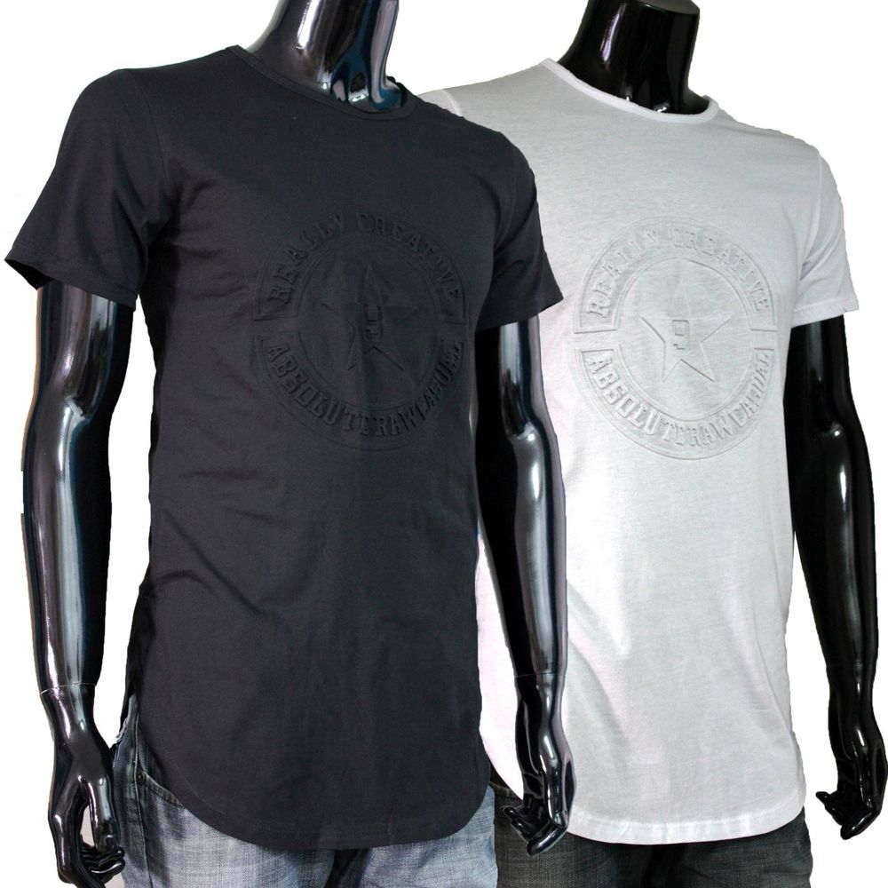 White t shirt effect - T Shirt Men Black White Italy Tee With Relief Effect 3d Star Shirts Letters