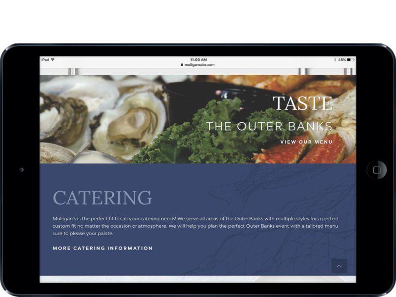 Outer banks media portfolio restaurant website design