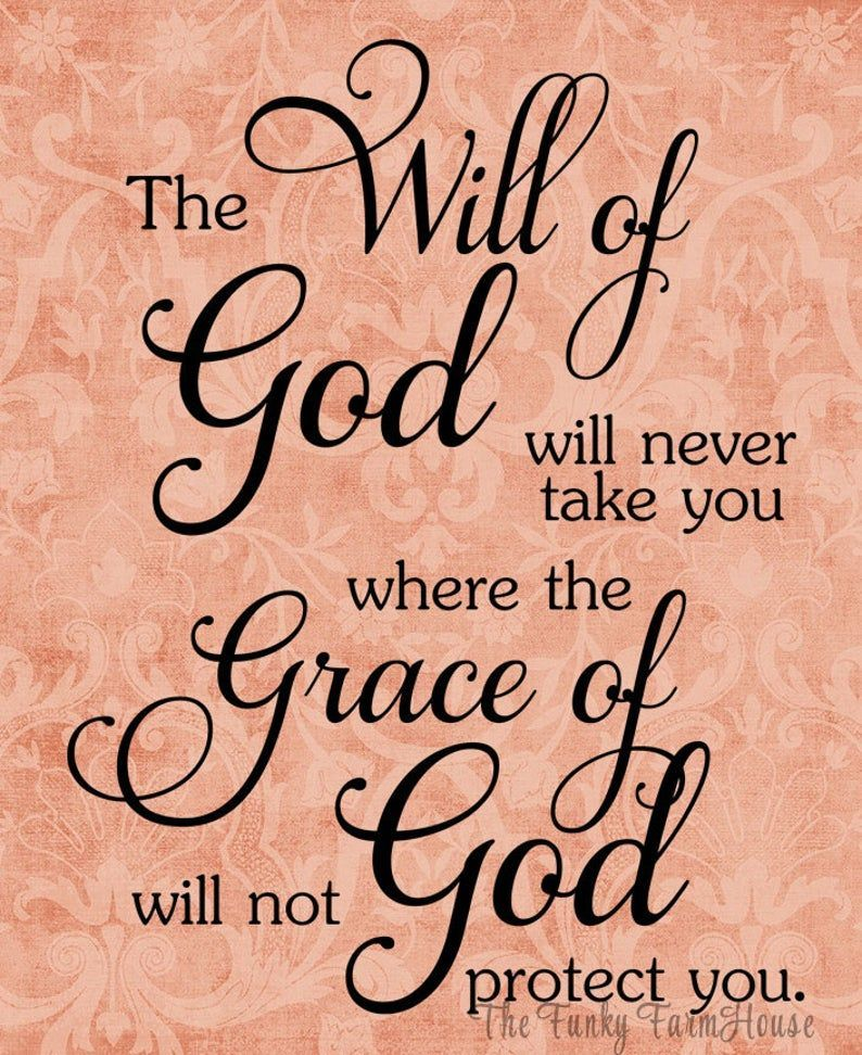 SVG, DXF & PNG - The Will of God will never take y