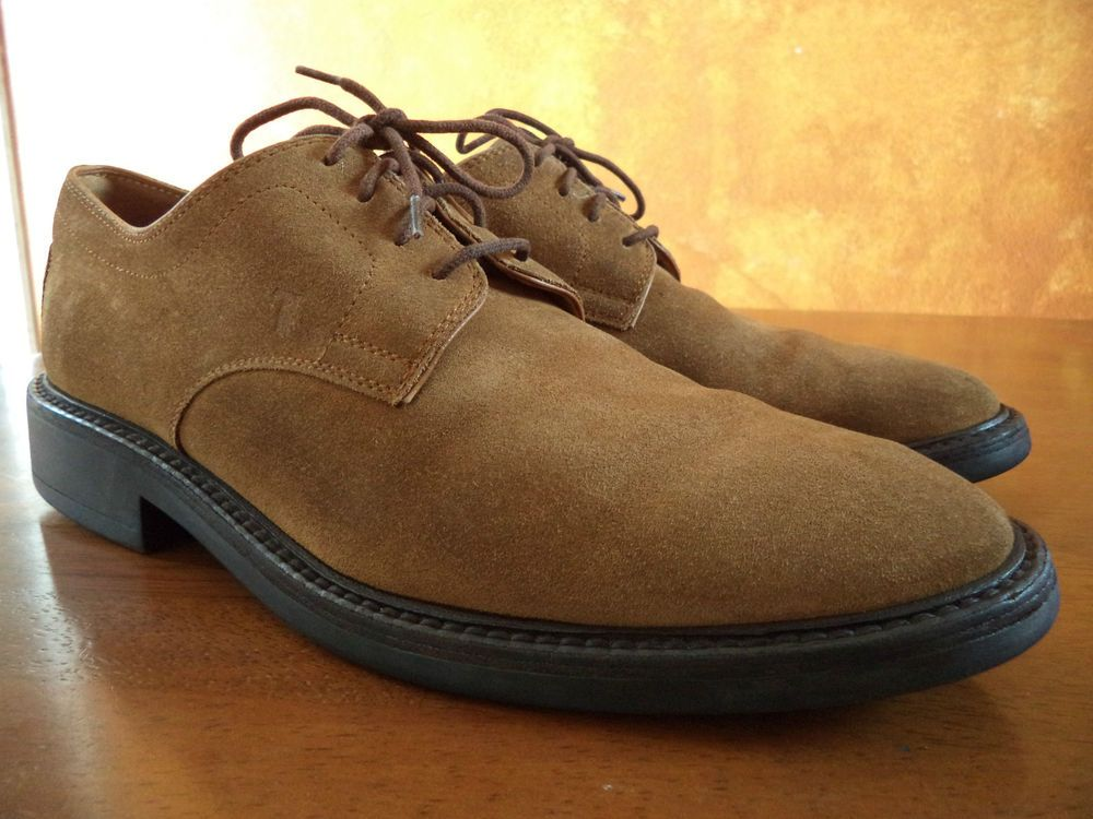Tod's Suede Oxford Shoes Men's size 9 U.S 10 (made in Italy) #Tods