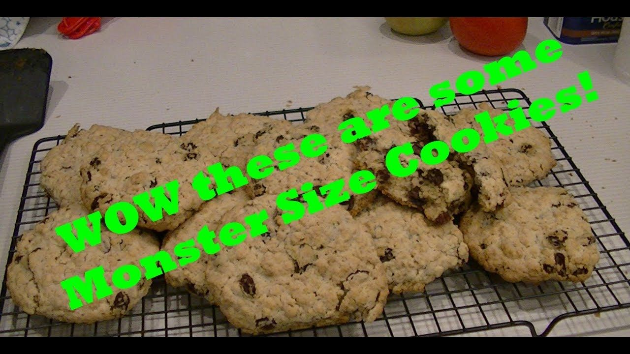 Easy To Make Huge, Soft and Chewy Oatmeal Raisin Cookie Recipe