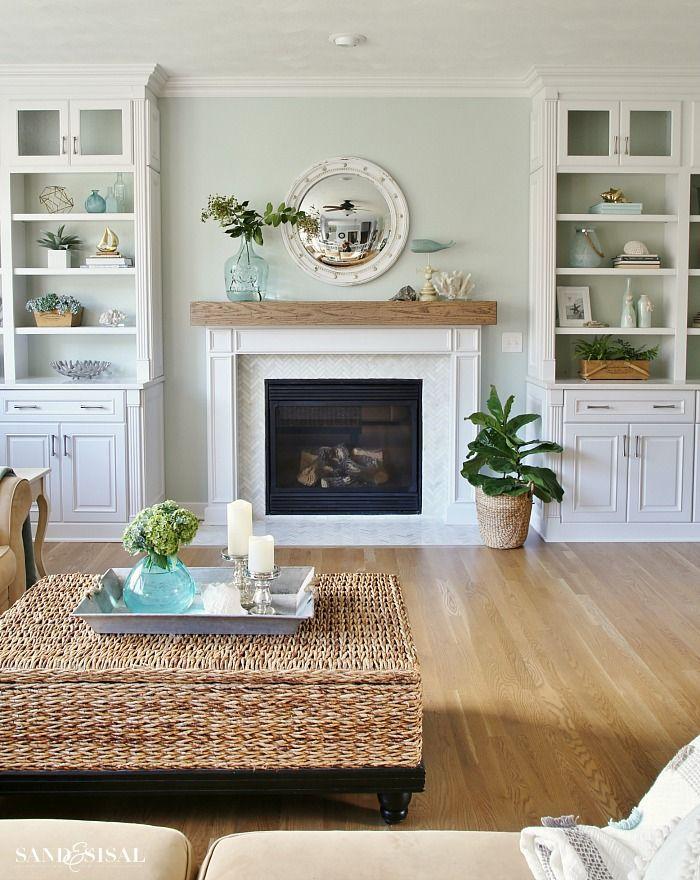 Coastal Familyroom Makeover Coastal family rooms