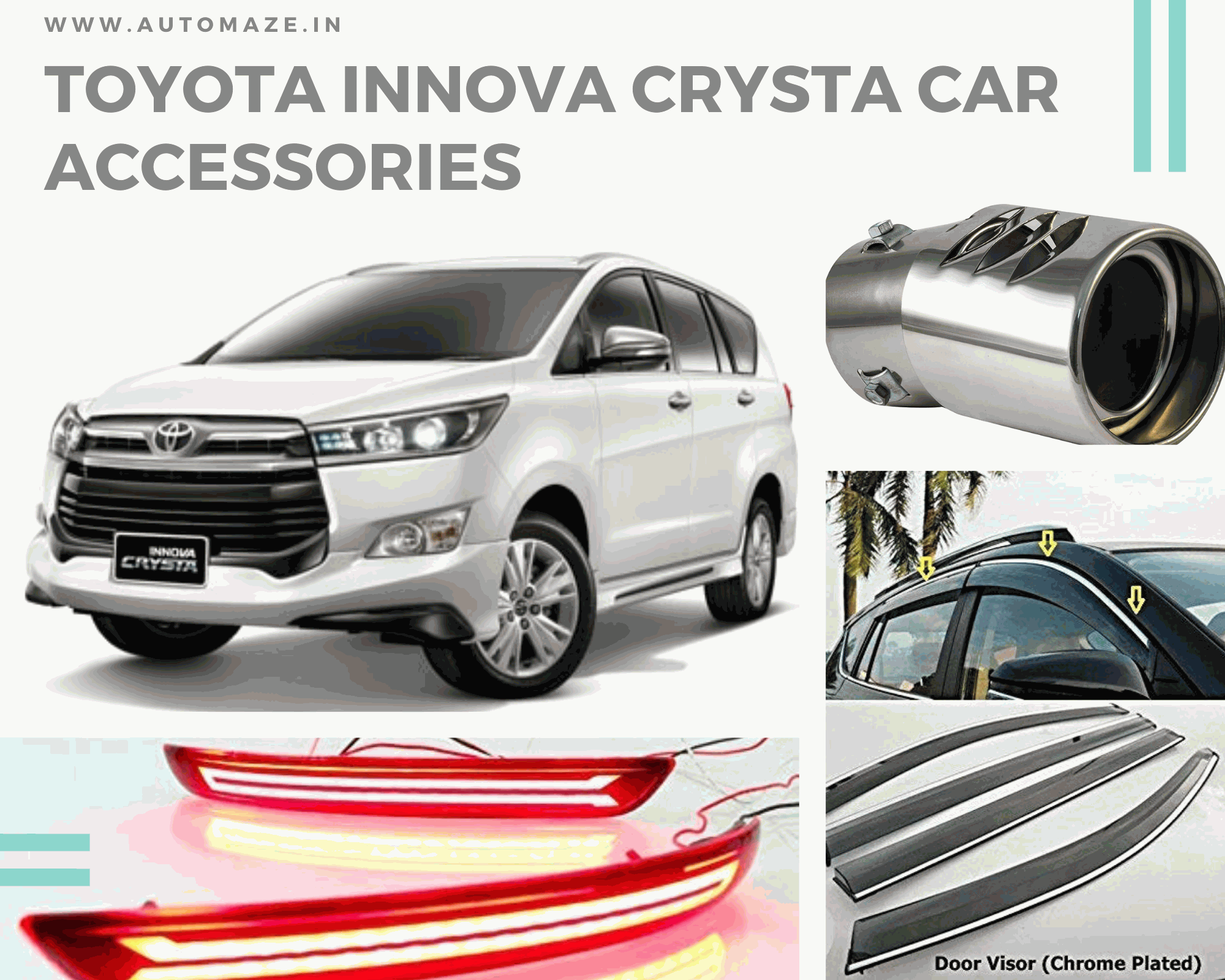 Buy Toyota Innova Crysta Car Accessories In 2020 Car Accessories Toyota Innova Car Interior Accessories