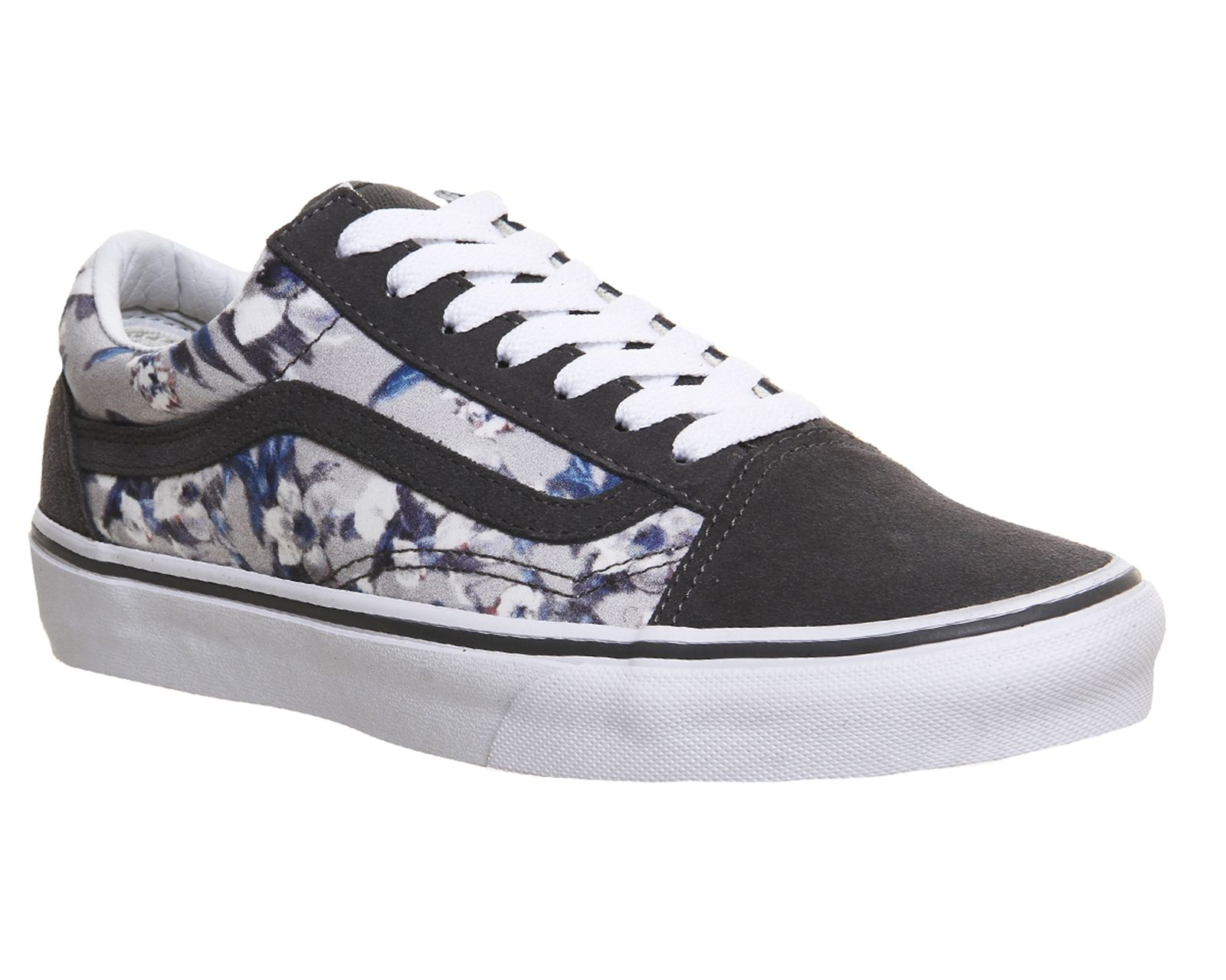 Buy Pewter White Blurred Floral Vans Old Skool from OFFICE.co.uk ... 6e2b112b99