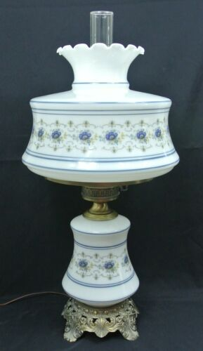 Quoizel Abigail Adams Blue 28 Hurricane Colonial Table Lamp Ab703a Milk Glass Ebay Hurricane Lamps Lamps For Sale Lamp