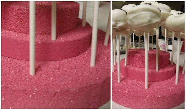 Pink Glitter Cake Pop Tier Stand Or Marshmallow Pop Stand For