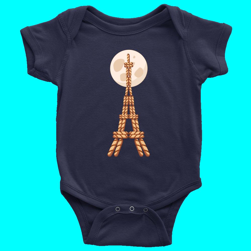 Cool Eiffel Tower Food Graphic Onesie Paris Travel Baby