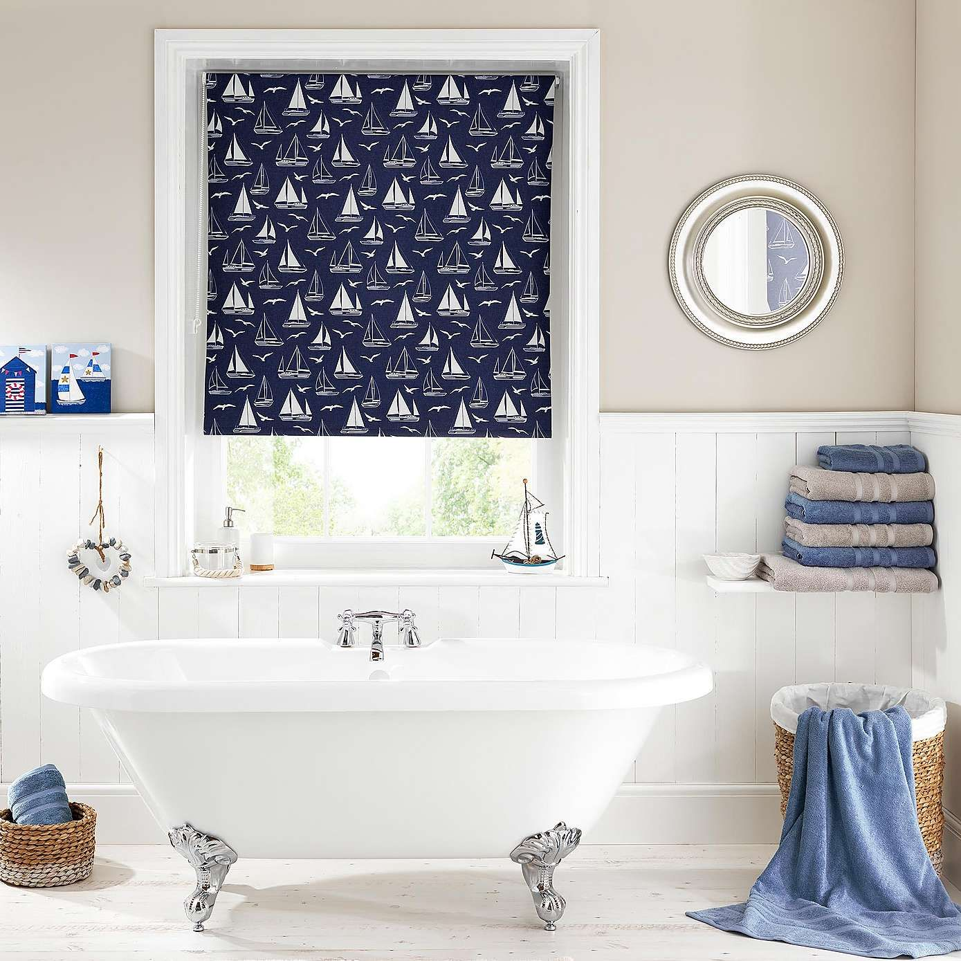 Sail Boats Blue Blackout Roller Blind | Dunelm | interiors ...