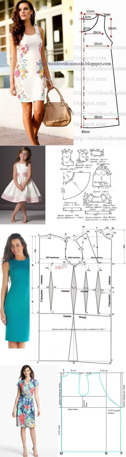 Los patrones simples de los vestidos veraniegos 5 | Proyectos que ...
