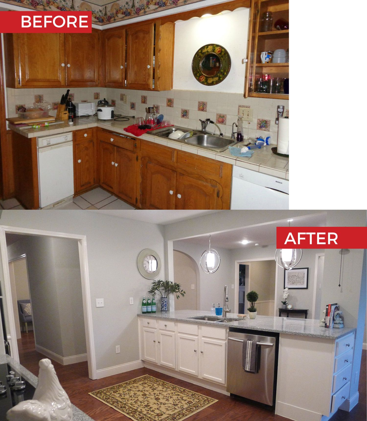 Before After Kitchen Makeover (With Images)
