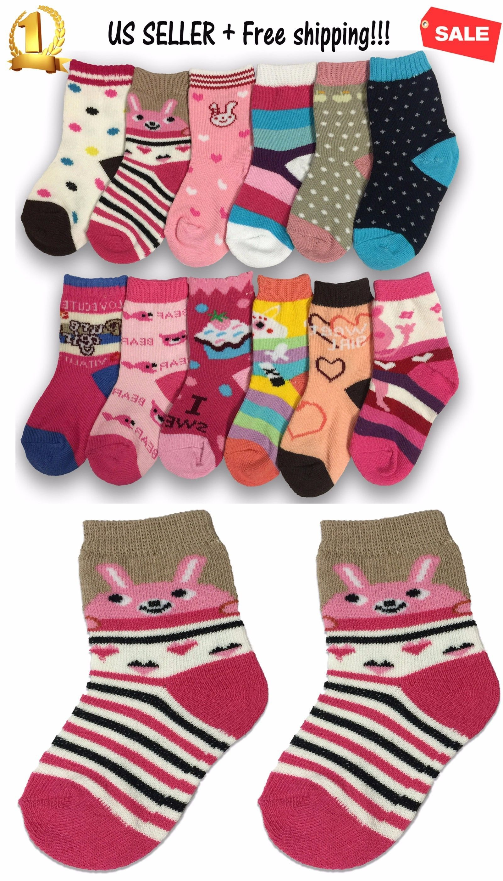 Socks and Tights 3 6 12 Pairs Yanoir Girls Ankle Cut Socks