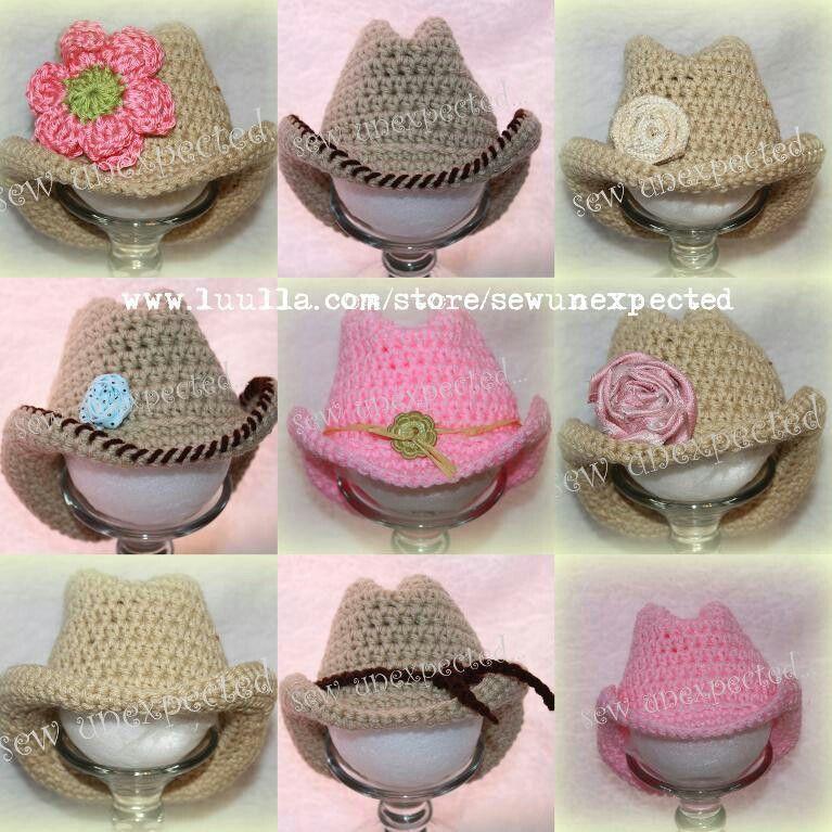 Cute cowgirl hats   baby   Pinterest   Gorros, Tejido y Gorro tejido