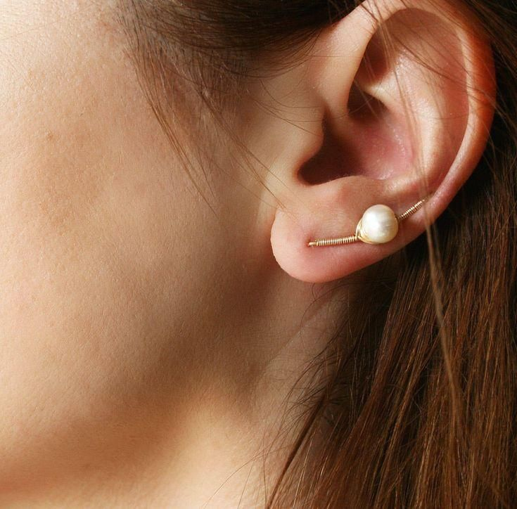 Photo of #Gift #handmade #schmuck #etsy #earrings #Gold Ear Climber Earrrin