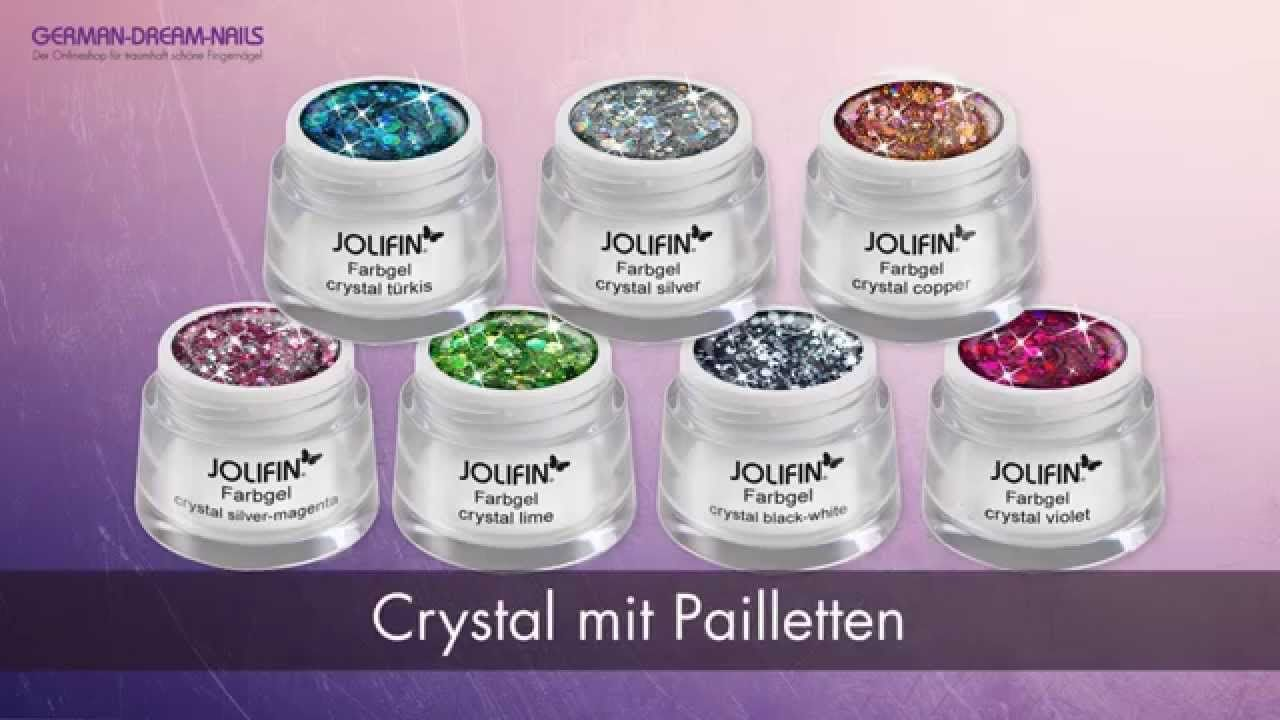 #Jolifin Crystal #Farbgele für Nail Art by #GDN.de http://www.german-dream-nails.com/uv-gel-acryl/jolifin-farbgel?cat=466 #nails #nailart #naildesign