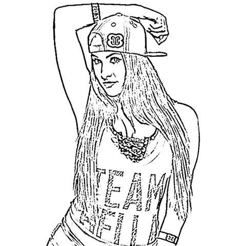Bella twins coloring pages murderthestout for Wwe diva coloring pages