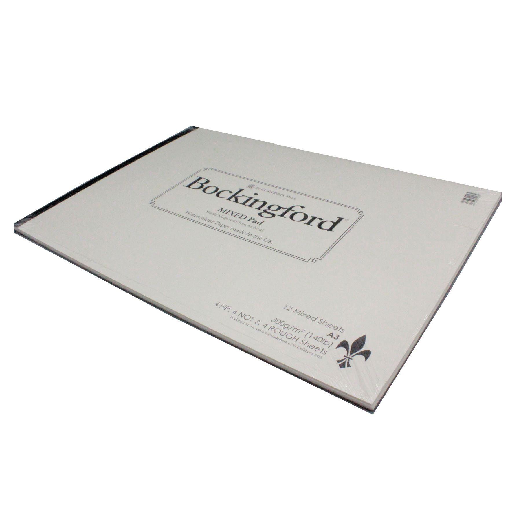 Bockingford A3 Mixed watercolour paper pad 12 Sheets 300gsm