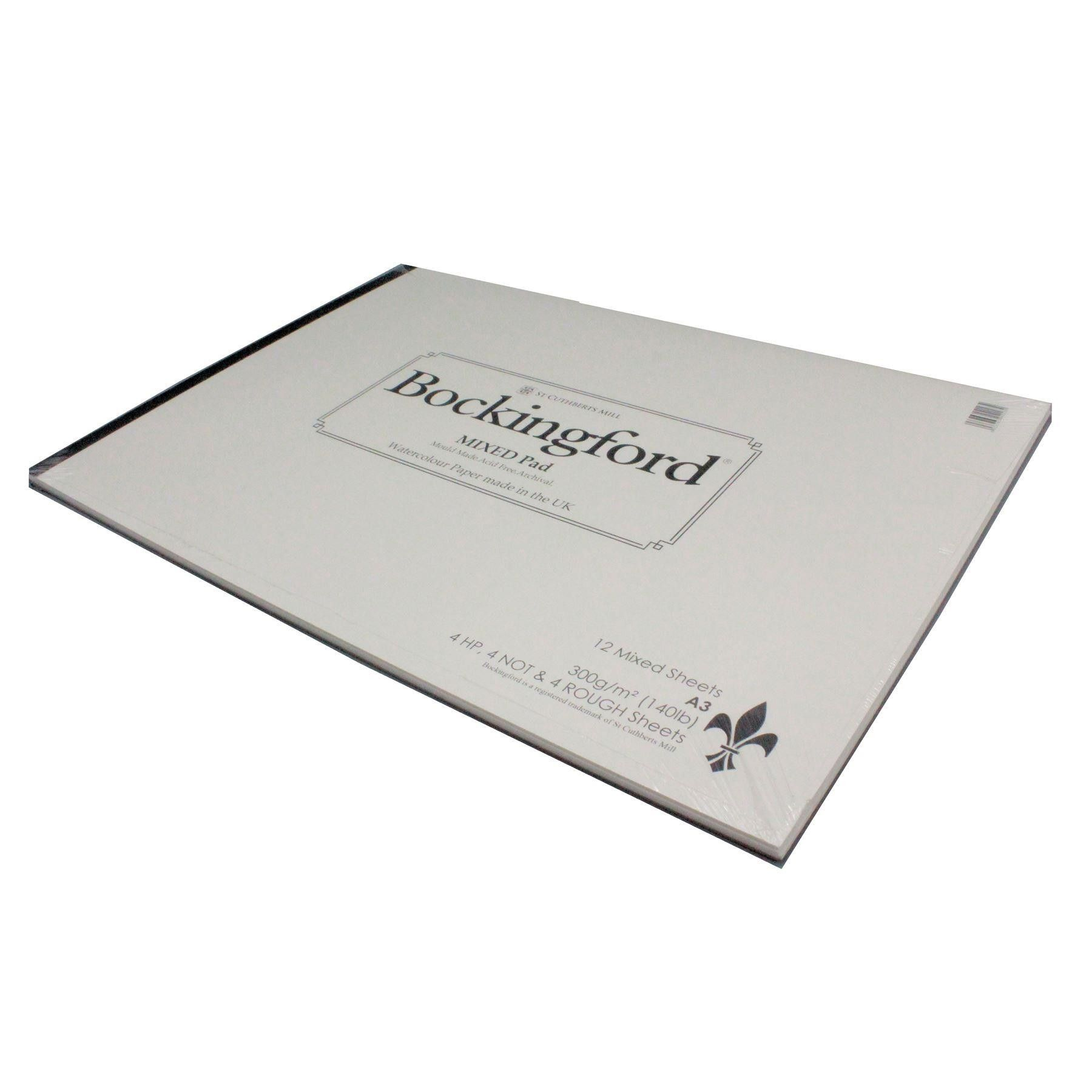 Bockingford A3 Mixed Watercolour Paper Pad 12 Sheets 300gsm Cp