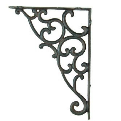 Metal Scroll Decorative Shelf Bracket Decorative Shelf Brackets Shelf Decor Decorative Wall Brackets