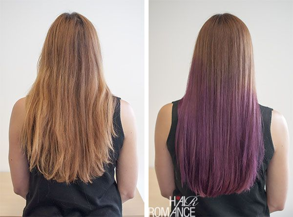 Hair Romance - before after purple ombre hair | Nails ...