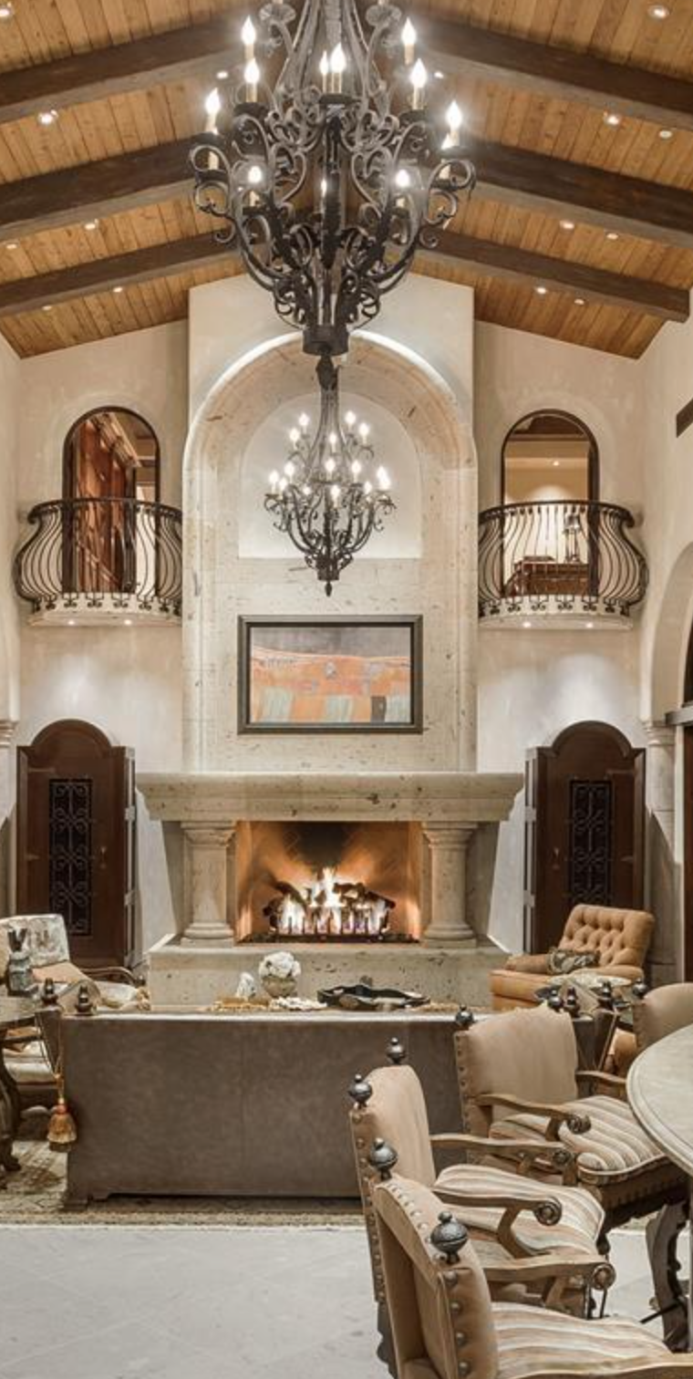 Tuscan design, lighting, accent furniture, draperies and bedding ...