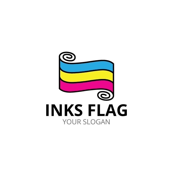 the logo show inks flag in cmyk color logo for any printing rh pinterest com au print shop logo vector print shop logo ideas