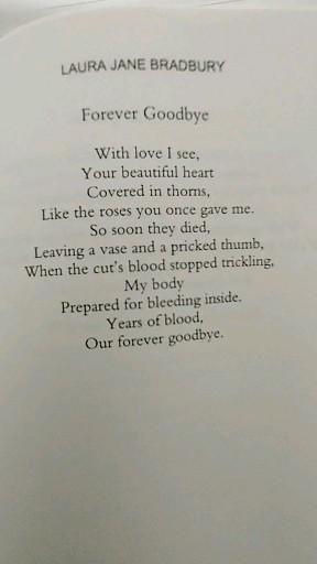 Poem: Forever Goodbye ©️ Love Poem, Deep Meaningful Poetry, Heartfelt, Poetry Book