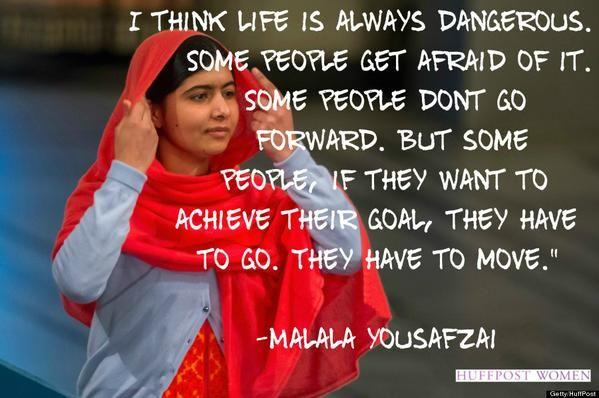 Wenn Frauen Gehen Risiken When Women Take Risks Malala Yousafzai Zitate Zitate Spruche