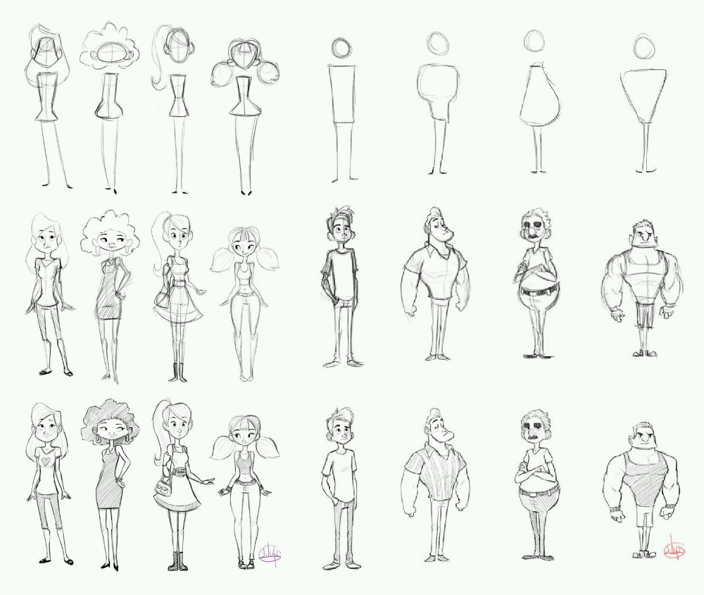Luigi Lucarelli Character Design Reference In 2019 Character Design Cartoon Body Drawing Cartoon Body Cartoon Character Design Drawing Cartoon Characters