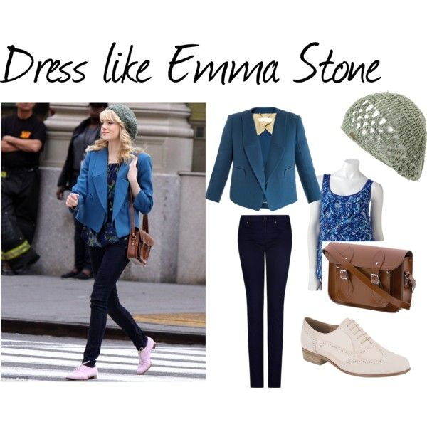"""Dress like Emma Stone"" by balancing on Polyvore"