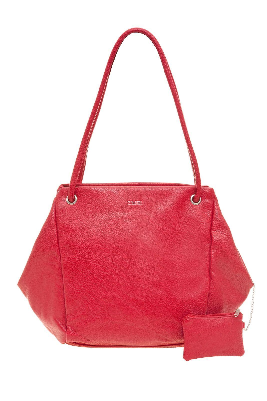Frauentaschen Irma I12 Zwei Taschen Handtasche Rot
