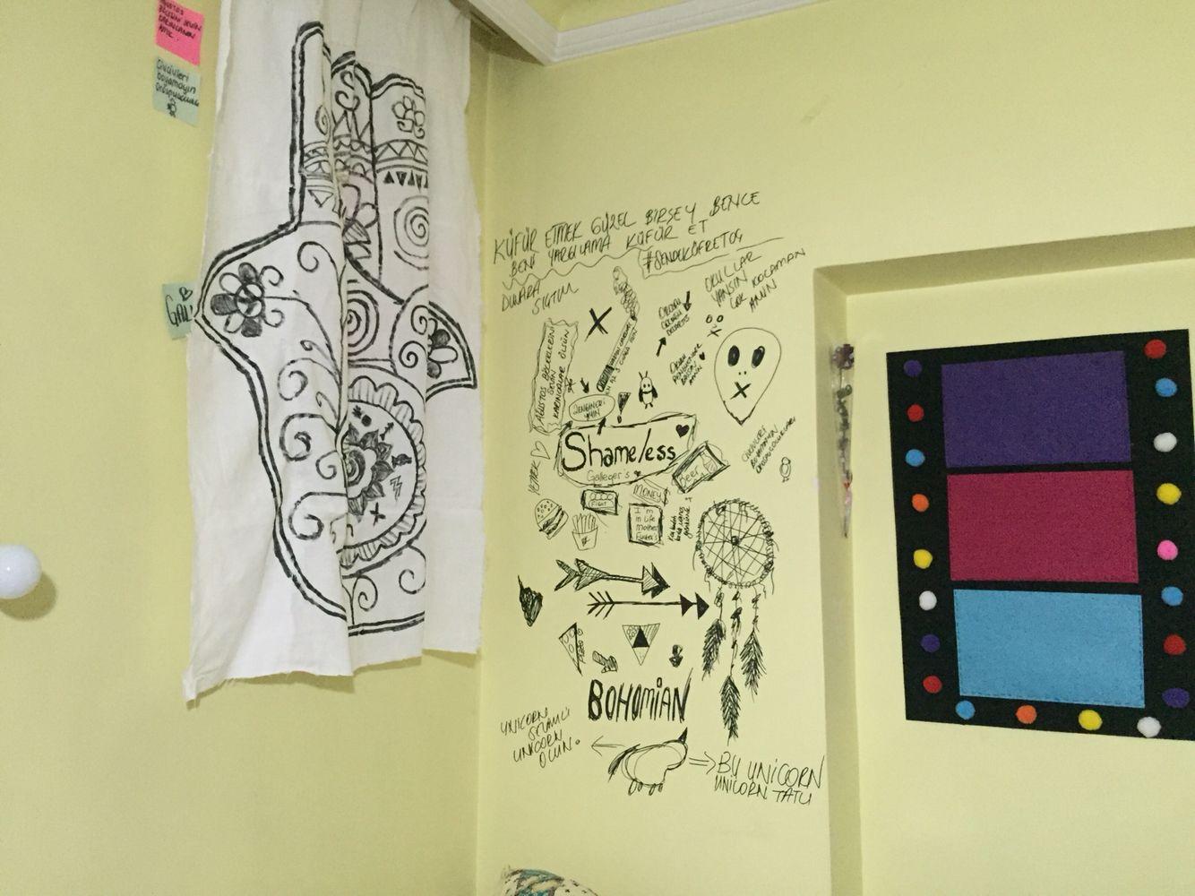 Shameless Wall Draw Art Doodle | ZEGK | Pinterest | Wall drawing