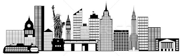 The Home Of The United Nations Headquarters New York City Is An Important City Skyline Silhouette City Skyline Skyline Drawing