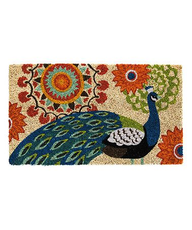Look at this #zulilyfind! Proud Peacock Coir Mat #zulilyfinds