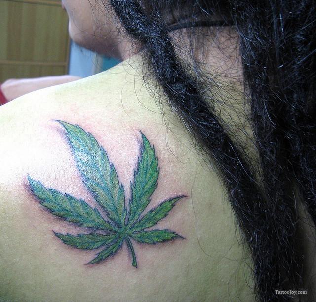 Pot Leaf Tattoo For Girls Tattoo of pot leaf  marijuana