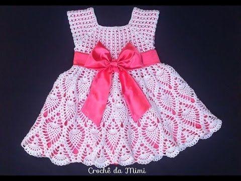 a09192c8d Passa a passo Vestido de crochê para bebe recém nascido Jocimara ...