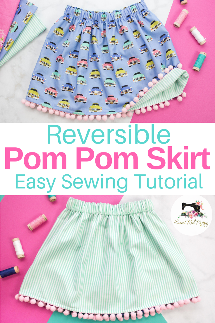 Easy Beginner-Friendly Reversible Girls' Skirt Sewing Tutorial #sewingprojects