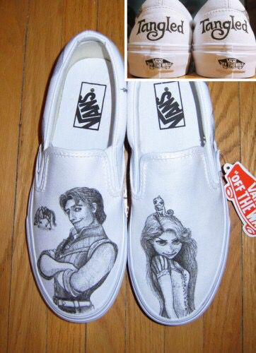 8b0bfe216aa73 How's my tangled vans? Coll know??   Vans 'off the wall'   Shoes ...