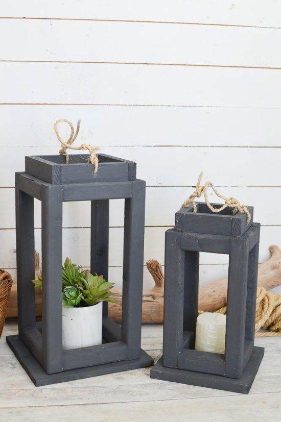 Brighten Up Your Decor With Diy Wooden Lanterns Outdoor