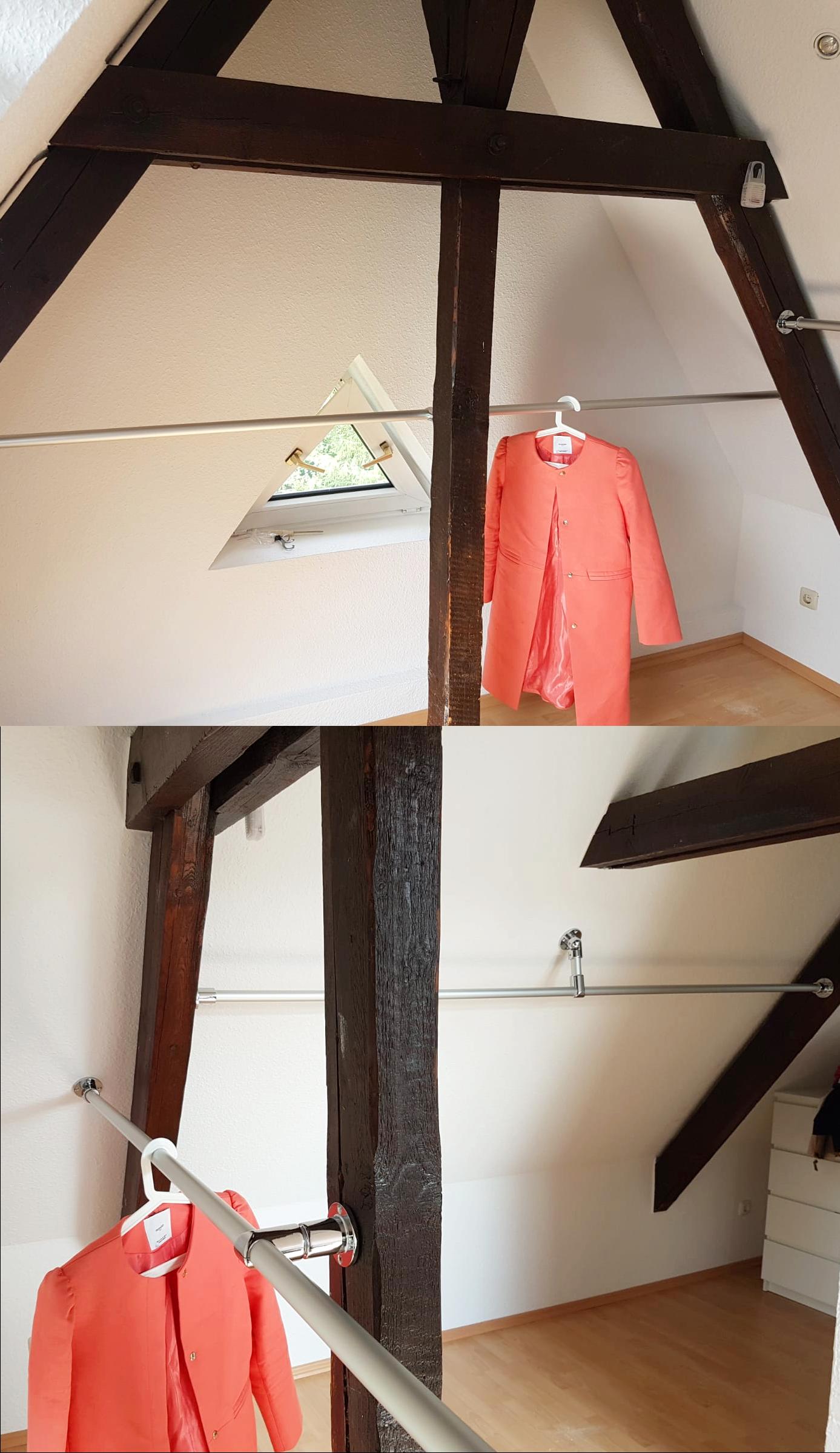 Kleiderstangensystem Unter Dachschrage Kundenfoto Kleiderstange