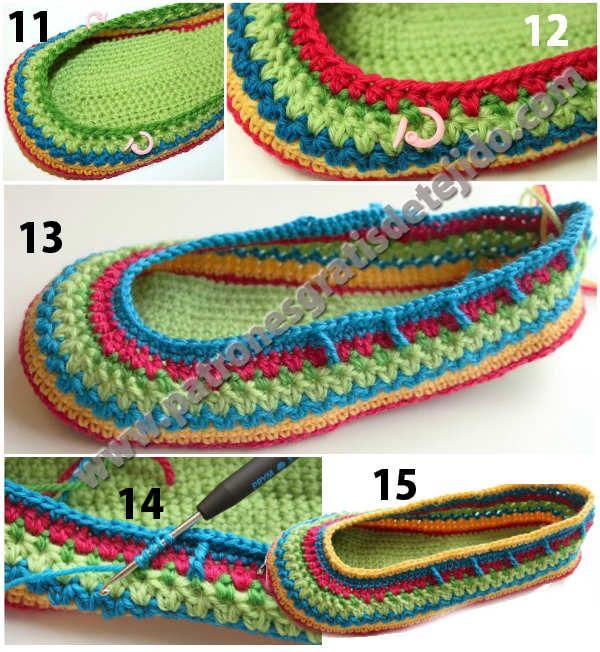 calzado tejido paso a paso | varios | Pinterest | Tejido, Zapatos y ...