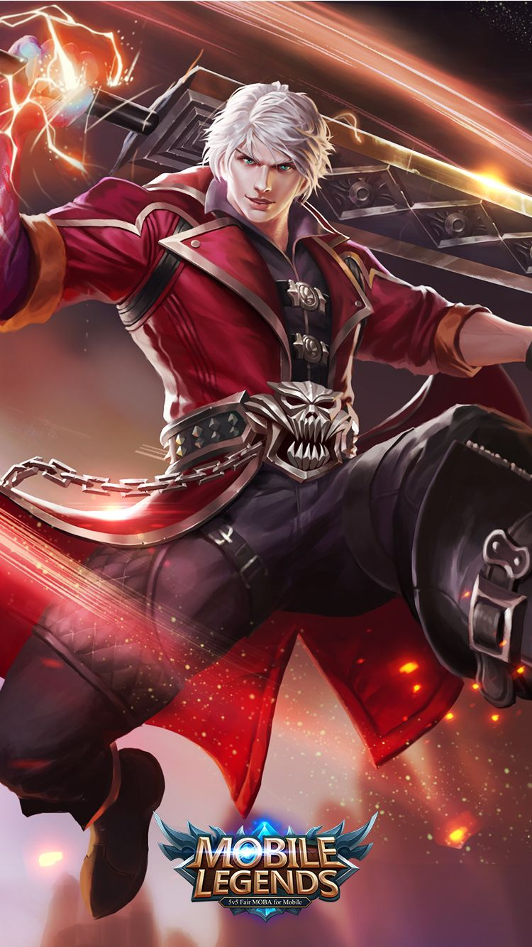 Alucard Child Of The Fall Wallpaper Mobile Legends Alucard Demon Hunter Mobile Legends