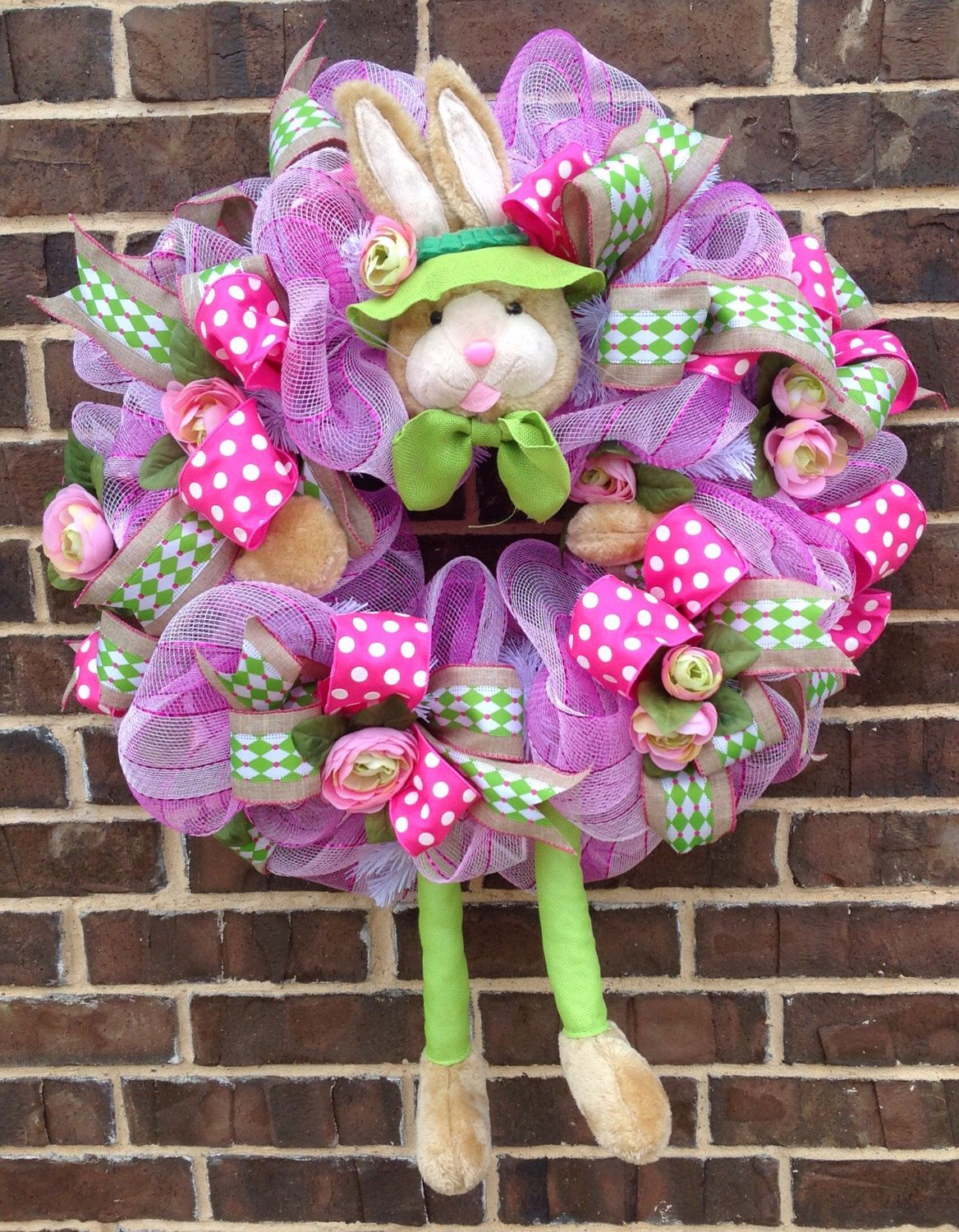 A personal favorite from my Etsy shop https://www.etsy.com/listing/500837068/bunny-wreath